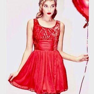 Free People Crushed Velvet Chiffon Mini Dress